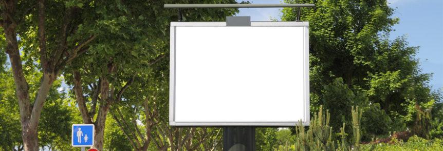 panneaux d'affichage publicitaire